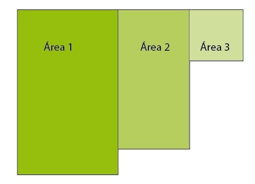 trazado de áreas para medir
