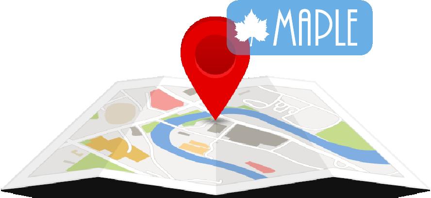 mapa para ubicar a MAPLE